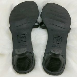 Kenneth Cole Reaction Shoes - Leather Kitten Heel Sandals size 6.5